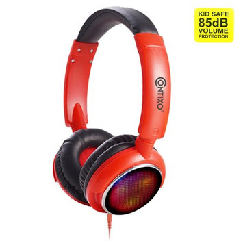 Contixo Kids Safe Stereo Bluetooth Headphones with Volume Limiter Built in Colorful LED Lights