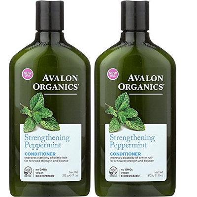 Avalon Organics Peppermint Revitalizing Conditioner 11 oz (Set of 2)