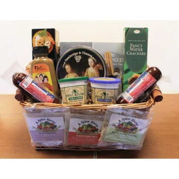 11-Piece Party Favorites Gourmet Sausage, Cheese and Dip Gift Basket