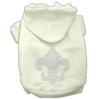 Mirage Pet Products Fleur de lis Hoodies Cream XL (16)