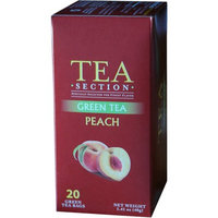 Tea Section Peach Green Tea 20 Bags - Case of 6