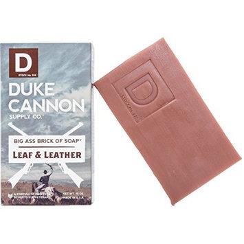 Duke Cannon Great American Frontier Men's Big Brick of Soap - Leaf + Leather, 10oz, Blue, 1 Bar [Leaf + Leather]