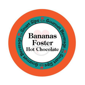 Smart Sips HOTBANFOST24 Bananas Foster Hot Chocolate Single Serve Cups for All Keurig K-cup Brewers 24 Count