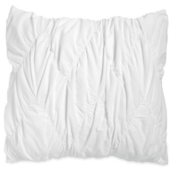 The Pioneer Woman Ruched Chevron Sham Set, White