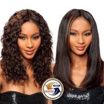 SAGA 100% HUMAN HAIR INDIAN REMY WET & WAVY - LOOSE DEEP 4PCS - WHOLE IN ONE PACK (P4/30 MED BROWN/LIGHT AUBURN)