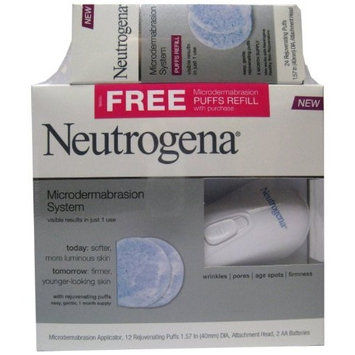 Neutrogena Microdermabrasion System plus Free Puff Refills, 36 Count
