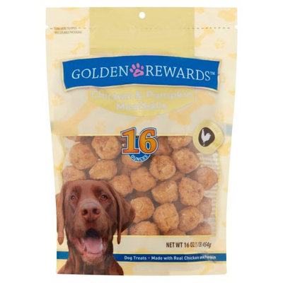 Wal-mart Stores, Inc. Golden Rewards Chicken & Pumpkin Meatballs Dog Treats, 16 Oz