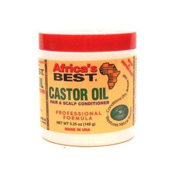 Africas Best Castor Oil Hair & Scalp Conditioner, 5.25 Oz (Pack of 6)