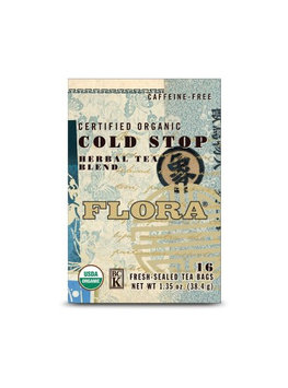 Flora Organic Cold Stop Herbal Tea Blend 16 Tea Bags