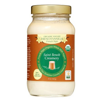 Saint Benoit Creamery Organic French Style Yogurt, French Vanilla, 23 Oz