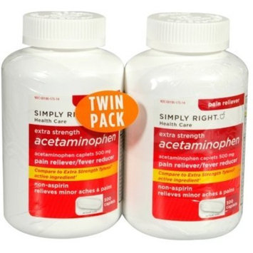 Simply Right (Member's Mark) Extra Strength Acetaminophen 500 mg, 500 Caplets, pack of 2