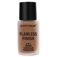 City Color B-0041 F-0017-3 T-0003 Flawless Foundation in Soft Beige with Sponge