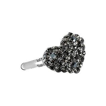 DoubleAccent Hair Jewelry Mini Heart shape Magnet Barrette, Black
