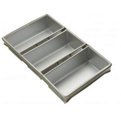 Focus Foodservice 904045 4 Strap bread pan set - 5 . 62 inch x 3 . 12 inch pans - Pack of 6