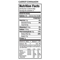Farm & Oven Carrot Cinnamon – 3 Bakery Bites Per Pack, 5 Packs Per Box - 40% of Your Daily Vegetables Snacks - High Fiber Snacks - Dense, Chewy - Mini Carrot Cake [Carrot Cinnamon]