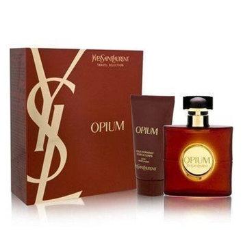 Opium by Yves Saint Laurent for Women 2 Piece Set Includes: 1.6 oz Eau de Toilette Spray + 1.6 oz Body Moisturizer
