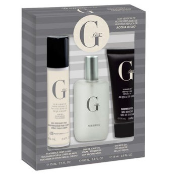 Belcam Inc G E u, version of Acqua di Gio, Fragrance Gift Set for Men, 3 pcs