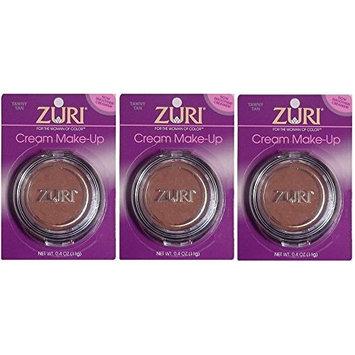 [VALUE PACK OF 3] ZURI Cream Make Up 0.4OZ [BLUSH BROWN] : Beauty