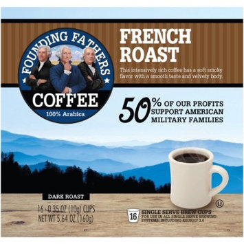 Founding Fathers Dark French Roast 100% Arabica Coffee, 0.35 oz, 16 pack