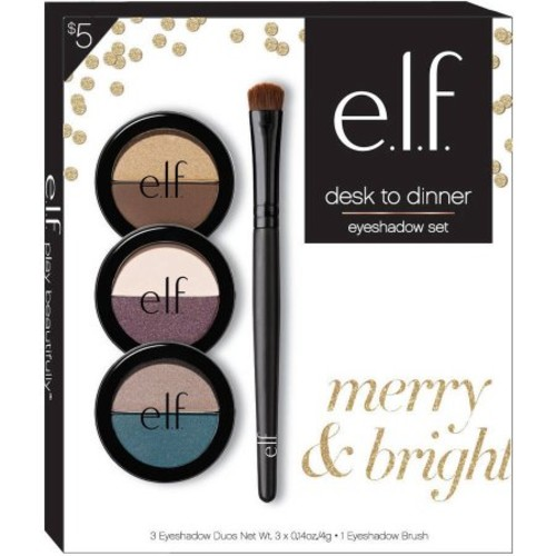 e.l.f. Desk to Dinner Eyeshadow Set, 4 pc