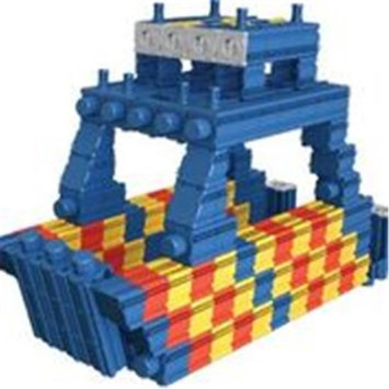 SNAPO 16A278BL 277 Piece Hop on Board Building Blocks Blue & Red - Yellow
