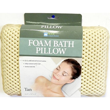 The Original DINY Bath Foam Spa Bath Pillow Featuring 8 Suction Powerful Holding Technology