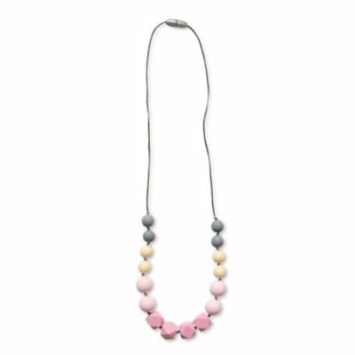 Itzy Ritzy® Teething Happens™ Chewable Mom Jewelry Silicone Necklace in Pink