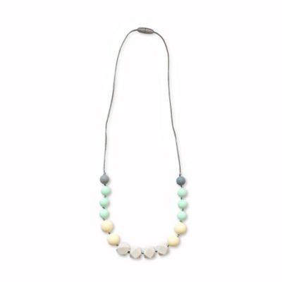 Itzy Ritzy® Teething Happens™ Chewable Mom Jewelry Silicone Necklace in Tan