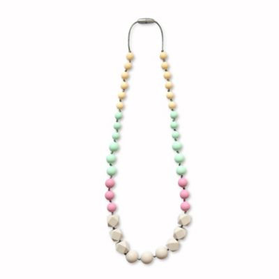 Itzy Ritzy® Teething Happens™ Chewable Mom Jewelry Silicone Necklace in Jade/Mauve