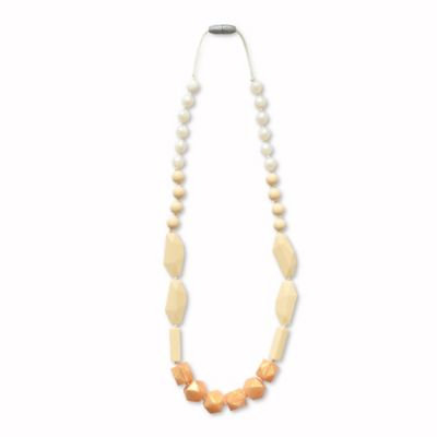 Itzy Ritzy® Teething Happens™ Chewable Mom Jewelry Silicone Necklace in Cream