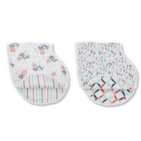 Infant Aden + Anais X Tea Collection 2-Pack Burpy Bibs, Size One Size - Blue
