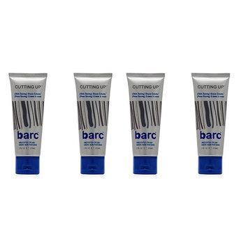 Barc Cutting Up, Unscented Shave Cream, 2 Oz (Pack of 4) + Makeup Blender
