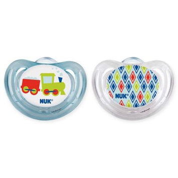Nuk® Airflow 6-18M 2-Pack Novelty Orthodontic Pacifiers in Blue