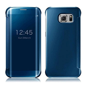 AutumnFall® Luxury Mirror Slim S-View Clear Flip Cover for Samsung Galaxy S7