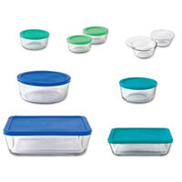 Anchor Hocking Anchor 20 Piece Glass Storage Set with Assorted Color Lids