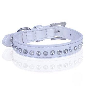 Vanderpump Pets Diamond Choker Collar White