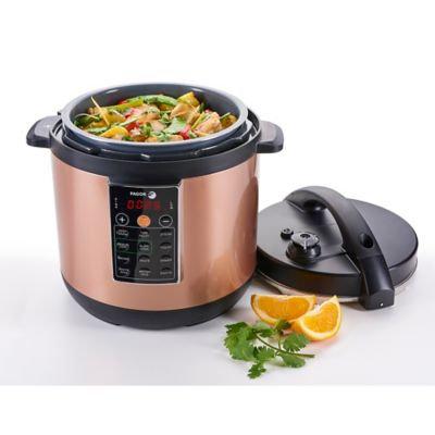 Fagor America FAG935010053 Fagor LUX Multi-Cooker, 8 quart, Copper - Electric Pressure Cooker, Slow Cooker, Rice Cooker, Yogurt Maker and more (935010053)