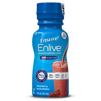 Ensure Enlive Nutrition Shake, Strawberry, 8 Oz, 16 Ct
