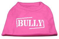 Mirage Pet Products 5122 SMBPK Bully Screen Printed Shirt Bright Pink Sm 10