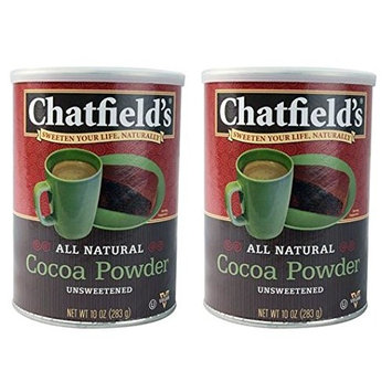 Chatfields Unsweetened Cocoa Powder, 10 Ounce (Pack of 2)