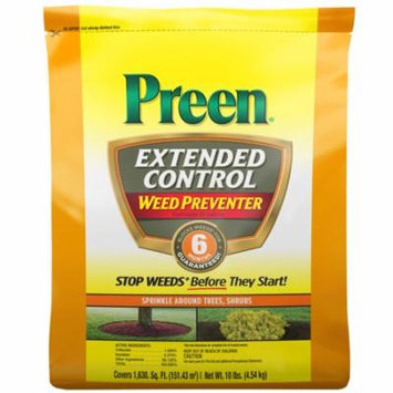 Preen Extended Control Weed Preventer, 10 lb bag covers 1,630 sq ft