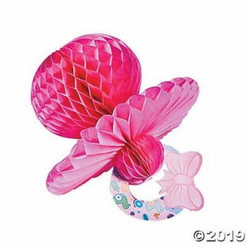 Pink Tissue Paper Baby Pacifier