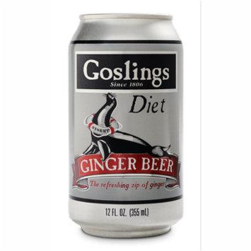 (12 Cans) Goslings Diet Ginger Beer, 12 Fl Oz