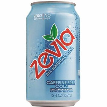 Zevia All Natural Soda, Caffeine Free Cola, 12-Ounce Cans (Pack of 24)
