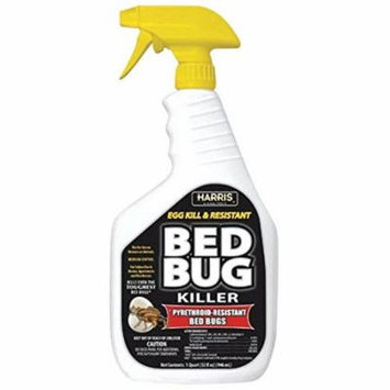Black Label Bed Bug Killer, Liquid Spray with Odorless and Non-Staining Extended Residual Kill Formula (32oz) Harris - Quart (32oz)