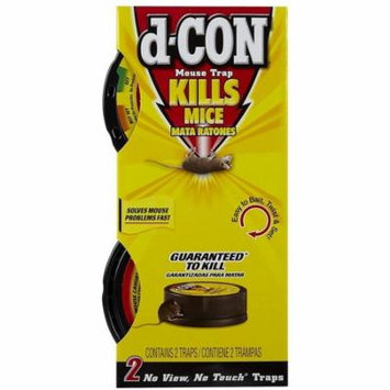 d-CON No View, No Touch Covered Mouse Trap, 2 Traps - 1