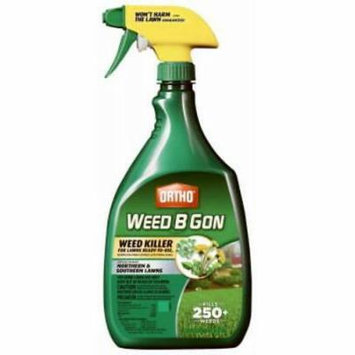 2PK Ortho Weed B Gon 24 OZ Ready To Use Weed Killer Kills Weeds Not Lawns