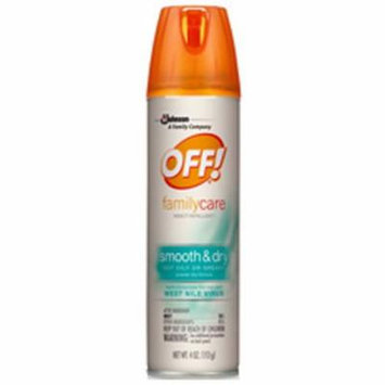 2 Pack OFF! FamilyCare Insect Repellent Smooth & Dry 4oz Each