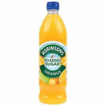 Robinson's Orange Fruit Drink, No Added Sugar, 1 Liter Plastic Bottles (Pack of 12)