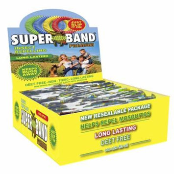 SB37050P Premium Insect Repellent Bracelets (50 Pack), WORLD'S #1 SELLING INSECT REPELLING WRISTBAND! Now 25 % larger and lasts 25% longer than the original Insect.., By Superband